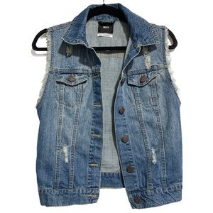 BDG Destroyed Denim Vest